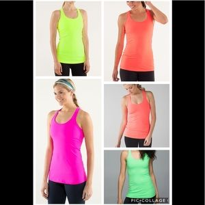 LULULEMON NEON CRB COOL RACERBACK TANK TOP LOT 8